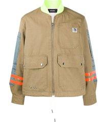 diesel work-wear bomber jacket - green
