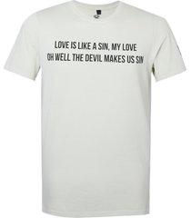 camiseta john john love songs beige masculina (bege claro, gg)