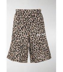 palm angels leopard-print shorts