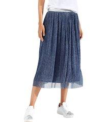 kjol amy vermont blå::silverfärgad