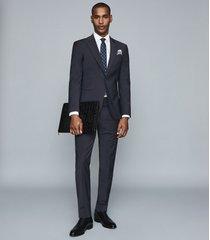 reiss trust - slim fit travel blazer in navy, mens, size 46l