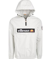 ellesse men's mont 2 logo quarter-zip hooded jacket
