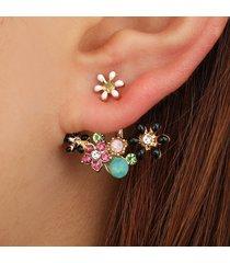 orecchini pendenti dolce con orecchini a forma di fiore di diamante per le donne orecchini pastorali freschi