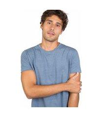 t-shirt básica comfort mescla azul jeans azul jeans/gg