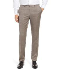 men's nordstrom trim fit wool blend trousers, size 36 x - grey