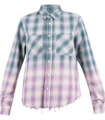 tartan motif shirt
