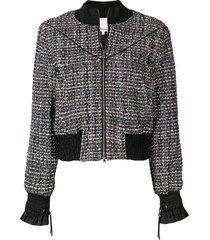 3.1 phillip lim tweed bomber jacket - black