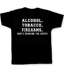 alcohol, tobacco & firearms.. t-shirt biker nra pro gun