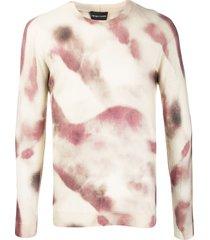 emporio armani tie dye pattern jumper - neutrals