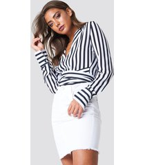 rut&circle raw hem skirt - white