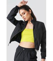 anna nooshin x na-kd front zip track jacket - black