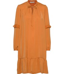 recycle polyester dress ls dresses everyday dresses orange rosemunde