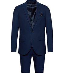 ink check kostym blå matinique