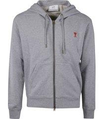 ami alexandre mattiussi heart a zipped hoodie