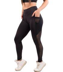 calça bella fiore modas legging fitness bolso tela preto