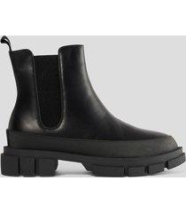 na-kd shoes chunky boots med gummisula - black