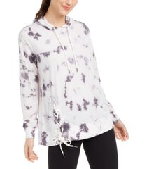ideology tie-dyed side-lace hoodie, created for macy's