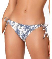 studio anne cole smocked-front tie-side bikini bottoms women's swimsuit