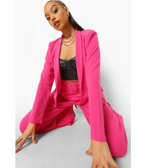 getailleerde kraagloze blazer, pink