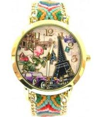 reloj verde sasmon re-18901