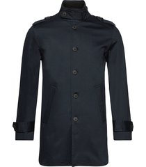 slhnoah cotton coat b trenchcoat lange jas blauw selected homme