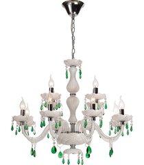 lustre de cristal 12 lâmpadas boyle