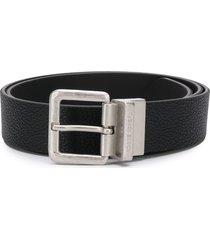 diesel textured leather belt - black