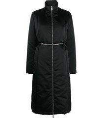 1017 alyx 9sm padded chain-embellished parka - black