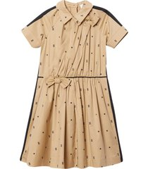 burberry beige flared dress