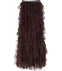 fabiana filippi gathered tulle skirt
