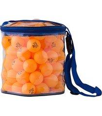 bola tênis mesa de pvc vollo laranja pote c/ 100 unid.