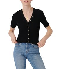 maje short sleeve sweater, size 3 in black at nordstrom