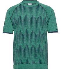 hmlmorten seamless t-shirt s/s t-shirts short-sleeved grön hummel