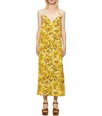 baum und pferdgarten abiella mixed print dress, size 10 us in yellow hydrangea at nordstrom