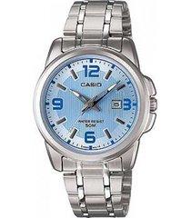 reloj kcasltp 1314d 2a casio-plateado