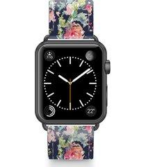 casetify keepsake saffiano faux leather apple watch strap