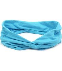 headband bijoulux turbante azul piscina