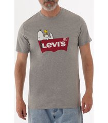 levi's x peanute snoopy graphic housemark t-shirt - grey 224910525
