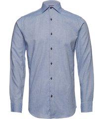 dobby | alonso - slim fit skjorta business blå seven seas copenhagen