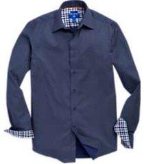 egara navy diamond dotted sport shirt