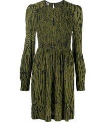 baum und pferdgarten wood grain print dress - green