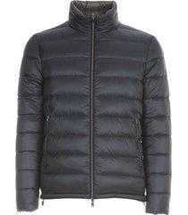 reversible padded jacket high neck