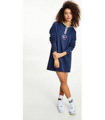 tommy hilfiger women's organic cotton timeless hoodie dress twilight navy - xxs