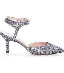 stuart weitzman revel high sandals 75 heel glitter w/belt on ankle