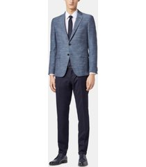 boss men's slim fit herringbone blazer