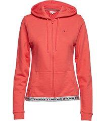 hoody hwk lingerie sweat-shirts & hoodies hoodies roze tommy hilfiger