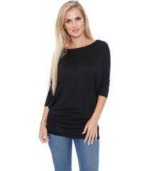 white mark women's banded dolman top