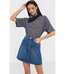 pieces pclou hw denim skirt mb239-vi minikjolar