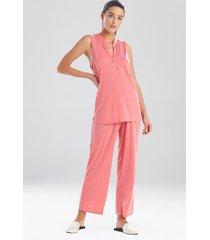 congo sleeveless pajamas / sleepwear / loungewear, women's, purple, size xl, n natori