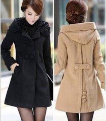 new listing fashion korean woman winter hooded wool coat long jacket hot !!!